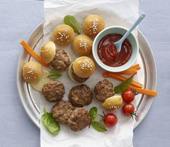 Mini Burgers, an exclusive recipe from Annabel Karmel's Baby Led Weaning Recipe Book