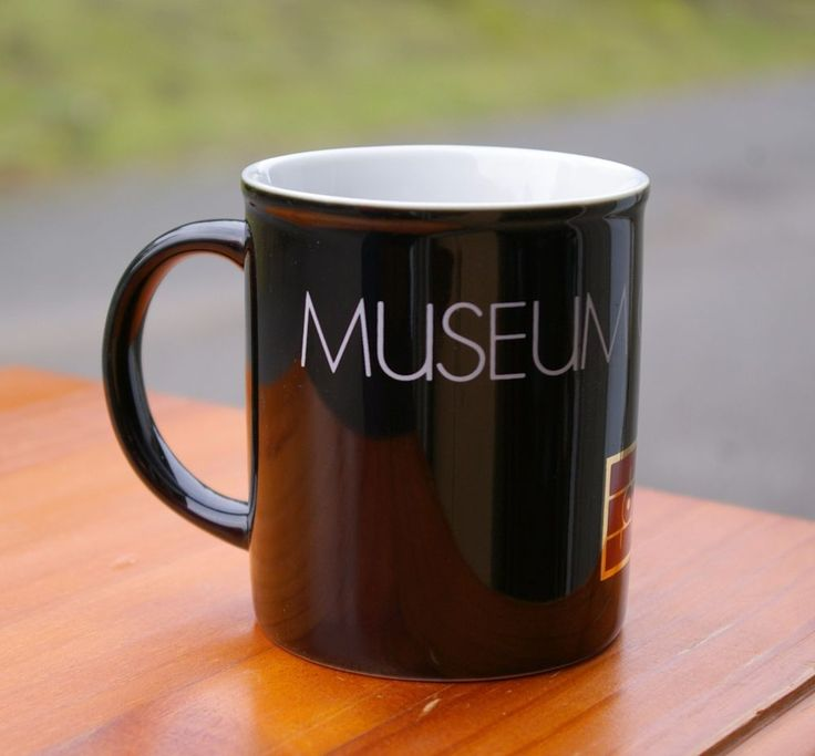"Black Museum of Flight Coffee Mug 3 1/2"" Tall Cup Pacific NW WA Boeing  