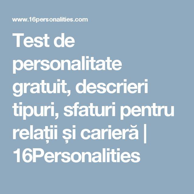 Test de personalitate gratuit, descrieri tipuri, sfaturi pentru relații și carieră           | 16Personalities