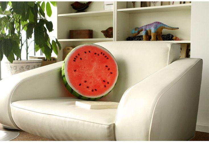 3D Fruit Watermelon Pillow.