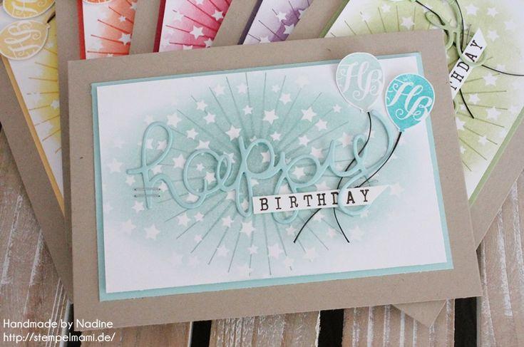 Geburtstagskarte in Regenbogen Farben