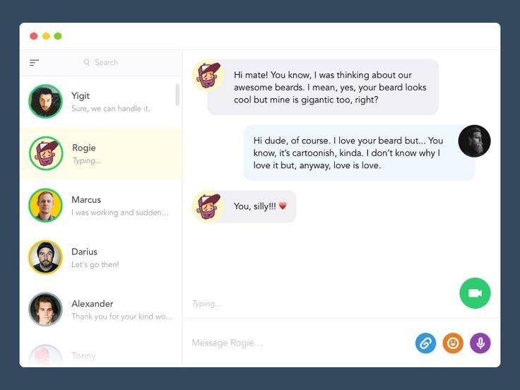 Desktop Chat App 2 by Yiğit Pınarbaşı