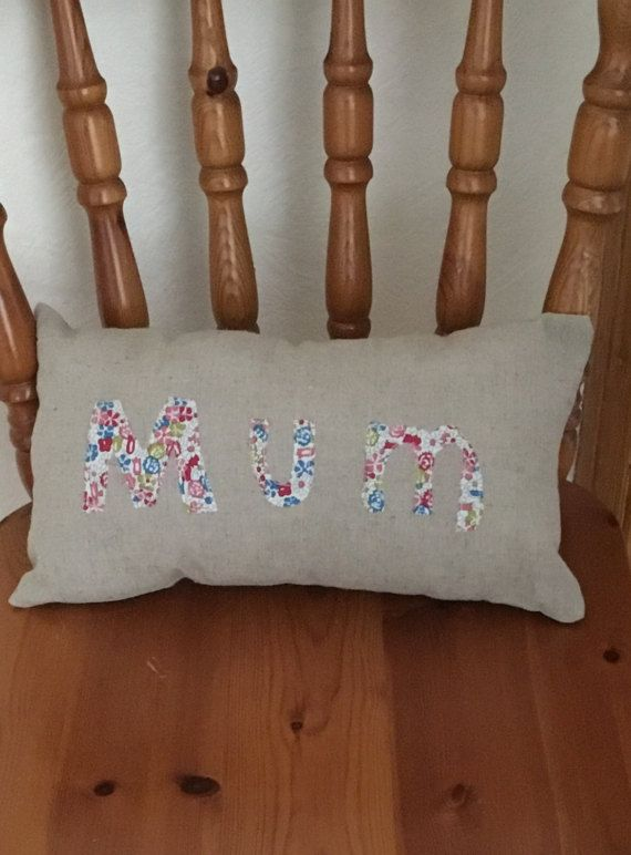 Personalised cushion mum cushion decorative by AwesomecraftsbyDg