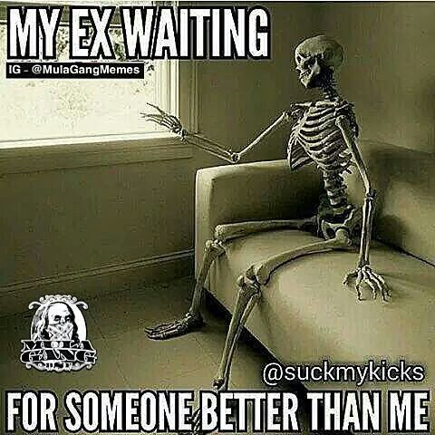 Ex humor : lol but they pretend on social media their current relationship is soooo good