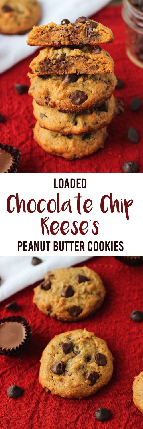 Loaded Chocolate Chip Reese's Peanut Butter Cookies - small batch recipe that makes just 10-12 cookies! mysequinedlife.com