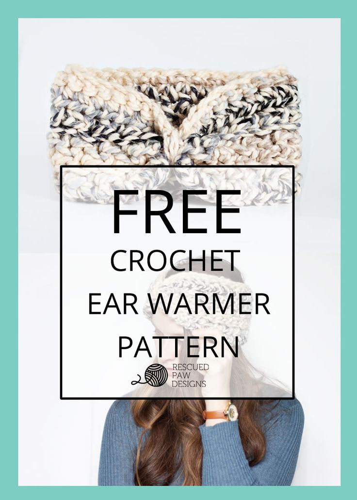 Free Moonlight Ear Warmer Crochet Pattern & Tutorial. Keep your ears warm all winter with this crochet headband by Rescued Paw Designs, made with less than one skein of Lion Brand Wool-Ease Thick & Quick (pictured in moonlight). Click to Read or Pin and Save for Later! Makes a great gift!