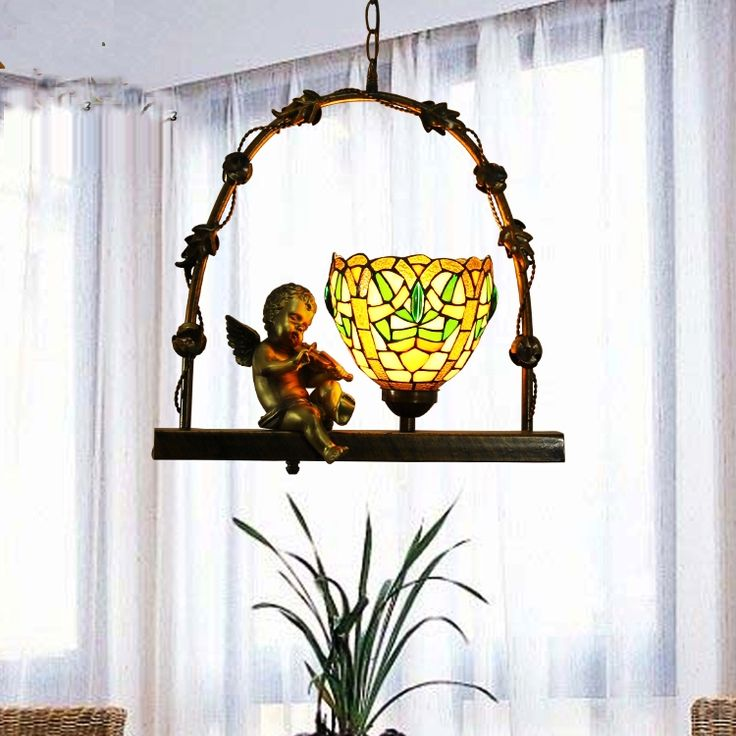 292.19$  Watch here - http://aienw.worlditems.win/all/product.php?id=32711898424 - led e27 Tiffany Glass Iron Angel   LED Lamp LED Light.Pendant Lights.Pendant Lamp.Pendant light For Dinning Room Foyer Corridor