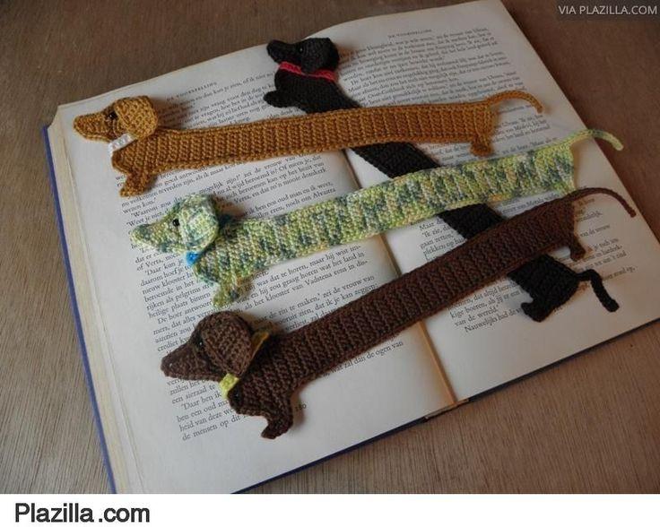 Teckel Dog bookmark hond boekenlegger patroon pattern