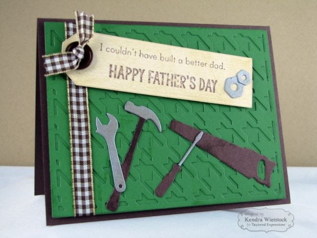 Happy Father's Day Card By Kendra Wietstock #FathersDay, Cardmaking, #Masculine, #CuttingPlates