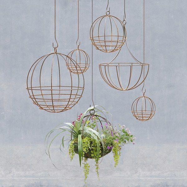 Sphere hanging baskets by Terrain; from $38 each. terrain.com