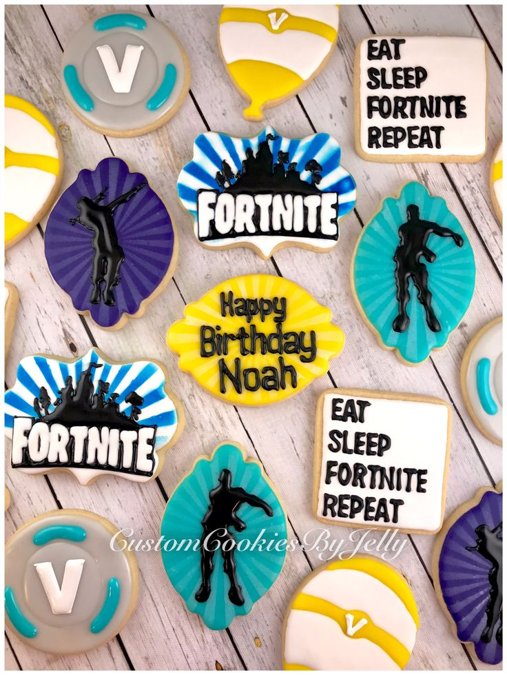 Fortnite cookies with images sugar cookies decorated