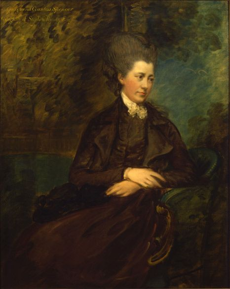 Portrait of Georgiana Poyntz, Countess Spencer (1737-1814) Oil on canvas; 1780 - 1781 Thomas Gainsborough