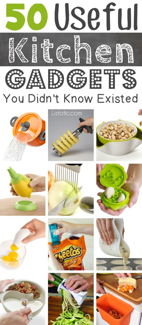 Lots of clever kitchen gadgets that you would actually use! Great gift ideas.