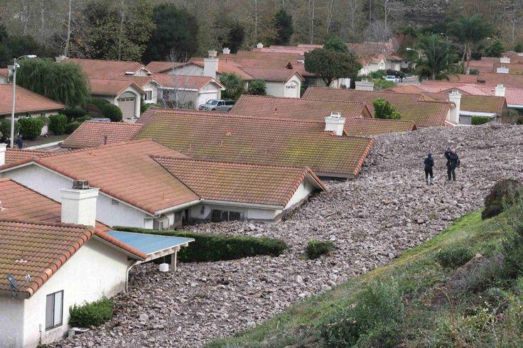 Mudslide in California, 2014