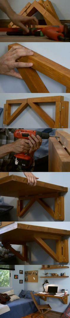 DIY save space with this foldable desk!