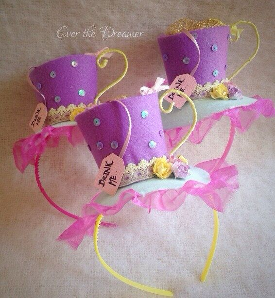 Alice Tea Cup facinator headband mad hatter party by EverTheDream