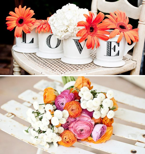 I can picture this cute little L-O-V-E arrangement pretty much anywhere, from decorating the bar or food tables, to one of the centerpieces.  This might also be an excellent DIY opportunity @Vicky Lee Morrow