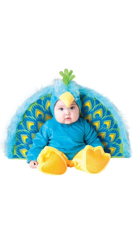 furry blue precious peacock baby costume infant halloween costume with soft fur and colorful peacock - Where To Buy Infant Halloween Costumes