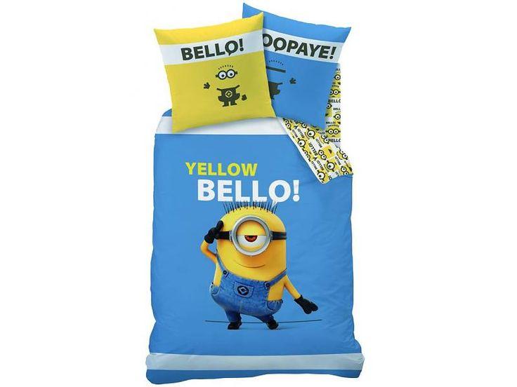 Minions Bello - Dekbedovertrek - Eenpersoons - 140 x 200 cm - Blauw/geel