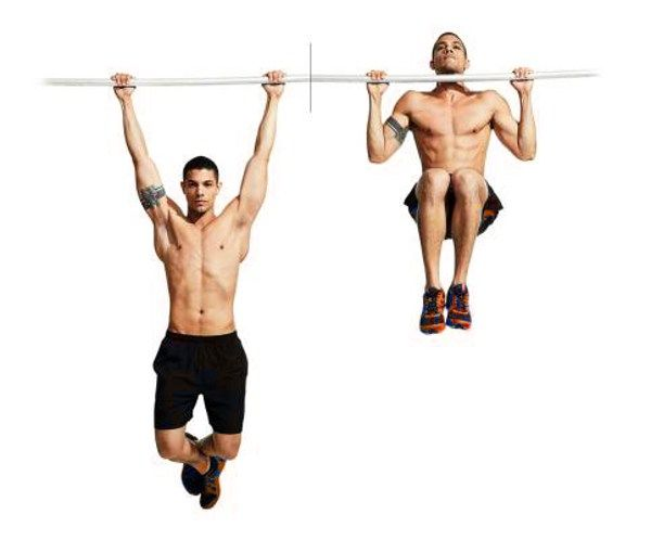 Knee up Pull ups for ab training @bbadvisor