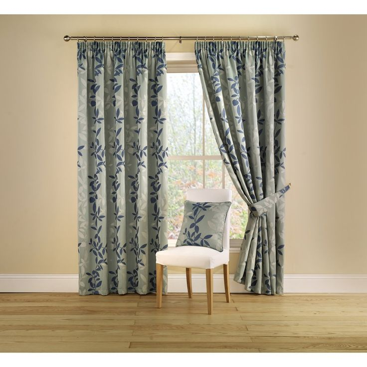 Montgomery Botanica teal pencil pleat readymade curtains. Available now at www.emporiumhomeinteriors.co.uk #curtains #homedecor #home