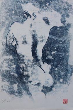 "Saatchi Online Artist Douglas Davis; Printmaking, ""Mono 73"""