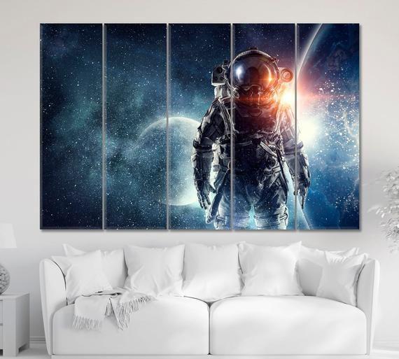 Astronaut Wall Art Galaxy Art Print Nasa Wall Decor Space Etsy Space Art Astronomy Poster Galaxy Art
