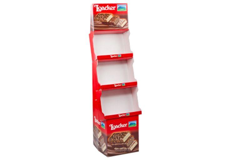 #Wickelsockel für Kekse • Einteiliges #Display • Die Präsentationsfläche dient gleichzeitig als Transport-Karton • Im Shop mit einem Handgriff aufzurichten • #T4P, #Verkaufsdisplay, #Offsetdruck
