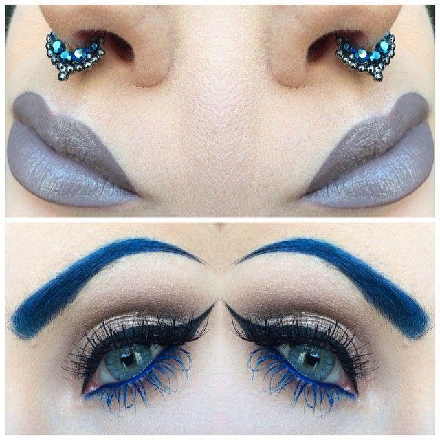 "Lip Tar ""Sebastian"" @occmakeup || Septum @vidakush || Eyes @makeupforeverofficial || Lentilles @desioeyes"