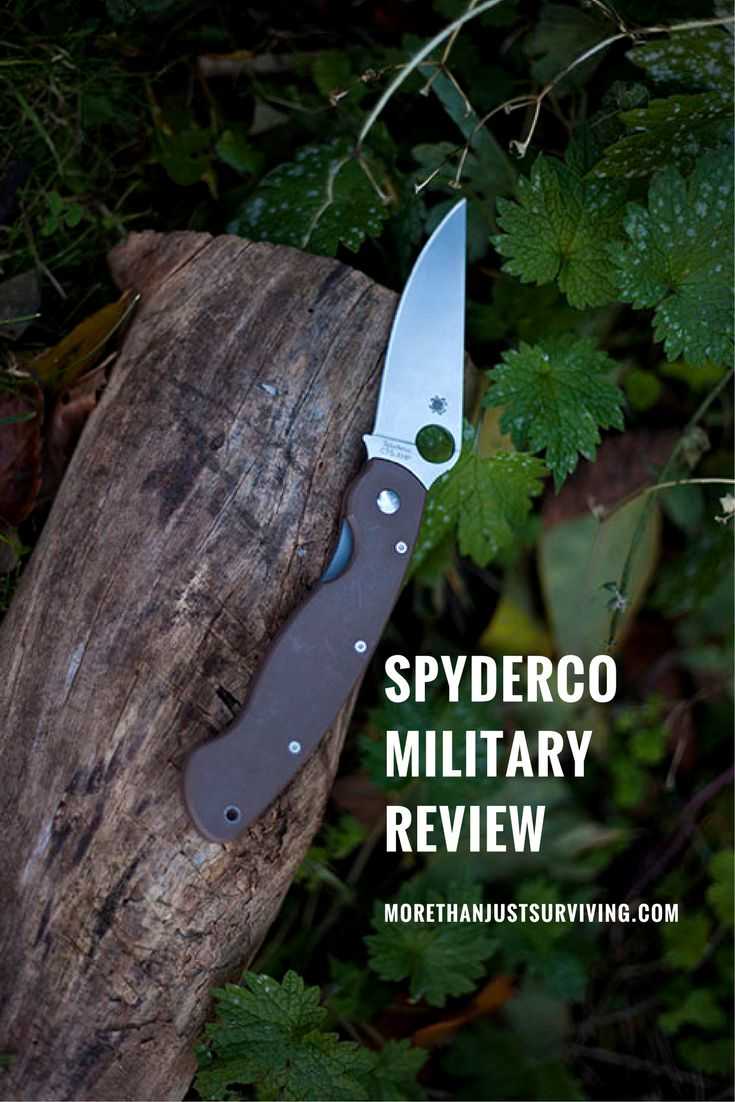 Spyderco Military G-10 Handle Folding Knife Review
