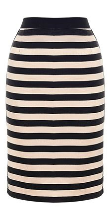 sewing project- stripe skirt
