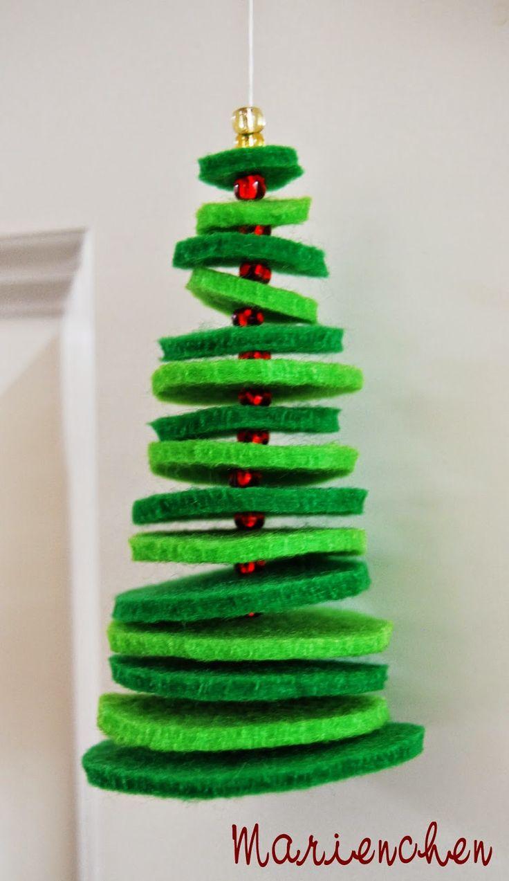 Tannenbaum auff deln filz perlen christmas pinterest for Basteln weihnachten pinterest