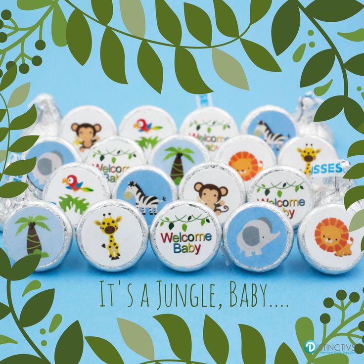 Going For A Jungle Themed Baby Shower? See Our Jungle Animal Baby Shower  Mini Stickers