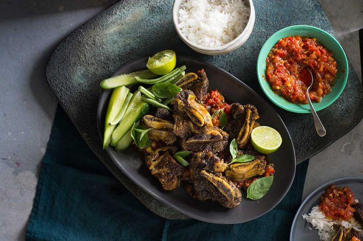 Use your fingers: Javanese beef ribs (iga penyet)