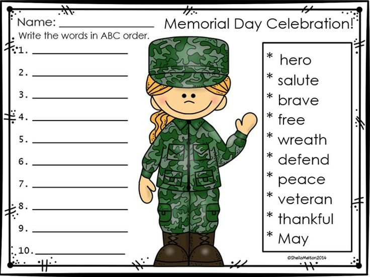 ***Top 100 Best Seller!!***  Memorial Day is coming! Use these quick and easy no prep printable activities to supplement your Memorial Day unit and celebrate this special day with your students!   These Memorial Day printables are ideal for morning work, the writing center, stations, independent practice, small groups, homework, 5-minute fillers, early finishers or even sub plans and are the perfect addition to your Memorial Day unit!   #memorialday #sheilamelton #tpt #education