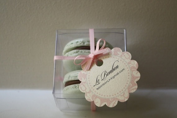 Clear Party Favor Boxes Michaels : French macaron party favor clear box by lebonbonla on etsy