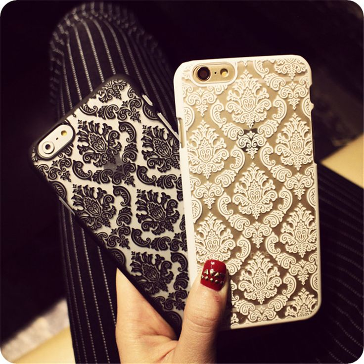 New Arrival for iphone 7 case ! Phone Case for iPhone 6 6S 6Plus 7 Plus Damask Vintage Flower Pattern Luxury Back Cover Cases