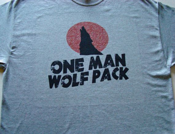 Men T shirt- Wolf Pack - One Man Wolf Pack -  Same logo Westbrook on top line?