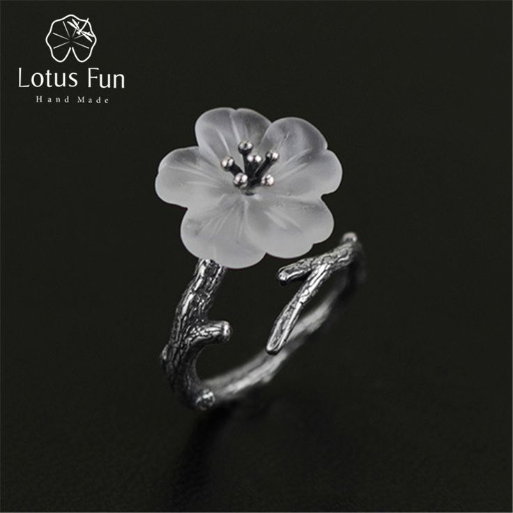 Lotus Fun Real 925 Sterling Silver Natural Handmade Fine Jewelry Flower in  the Rain Ring Open 7cf0348e723f