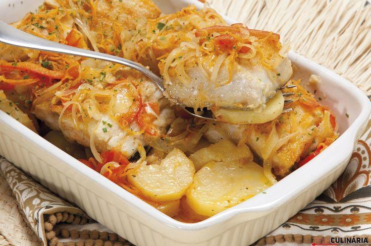 Receita de Bacalhau folião. Descubra como cozinhar Bacalhau folião de maneira prática e deliciosa com a Teleculinária!
