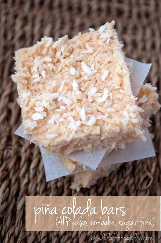Piña Colada Bars :: Gluten, Grain, Dairy, Egg, Nut, and Seed Free, Autoimmune Paleo // deliciousobsessions.com