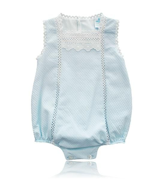 Spanish baby clothes | baby rompers | Baby blue romper suit |babymaC - 1