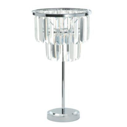 Knightsbridge 1 Light Metal and Glass Table Light, 5014838502594
