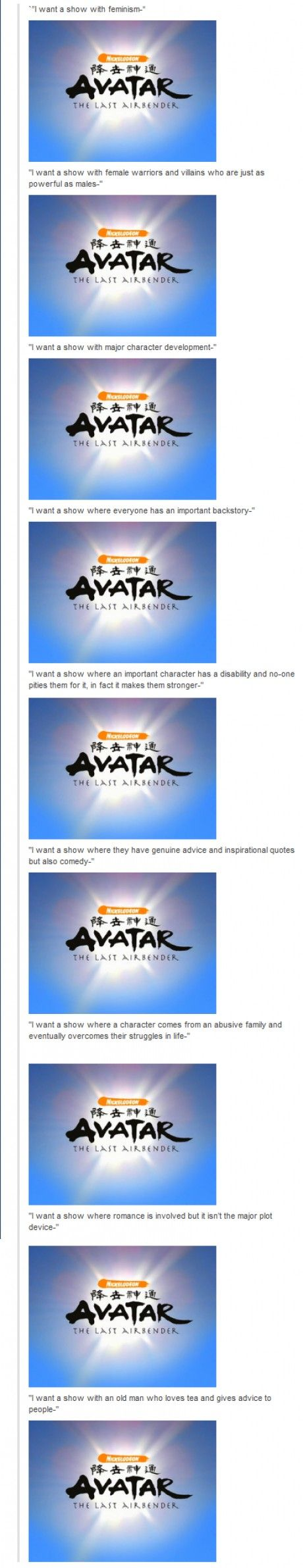 Avatar just has everything, because it is just the best