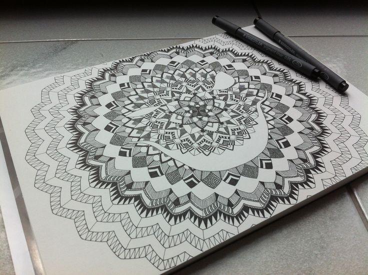 SMILE FOR ME - #Zentangle #Poster #Idee in seiner Entstehung. #Wandbild , #Geometric , #BlackAndWhite , #funny , #creative