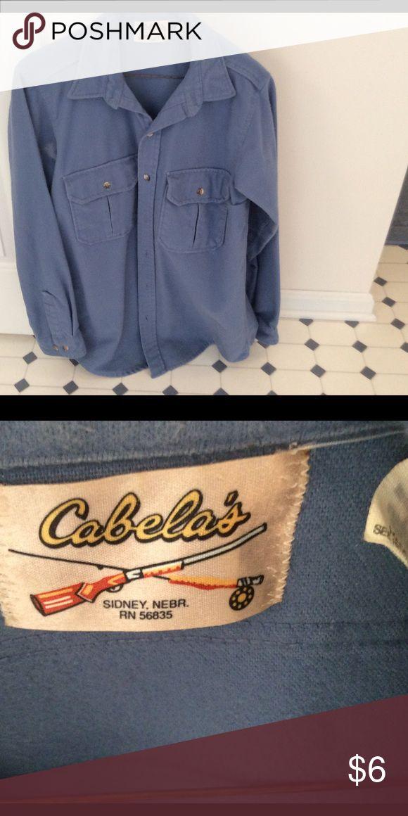 Men's cabelas blue flannel shirt Men's cabelas blue flannel shirt.     I offer 15% discount on 3 items or more when bundling. cabela's Shirts Casual Button Down Shirts