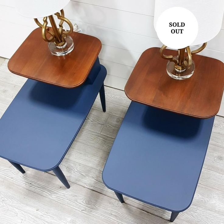 Oceans Depth Navy End Tables- Sold Individually