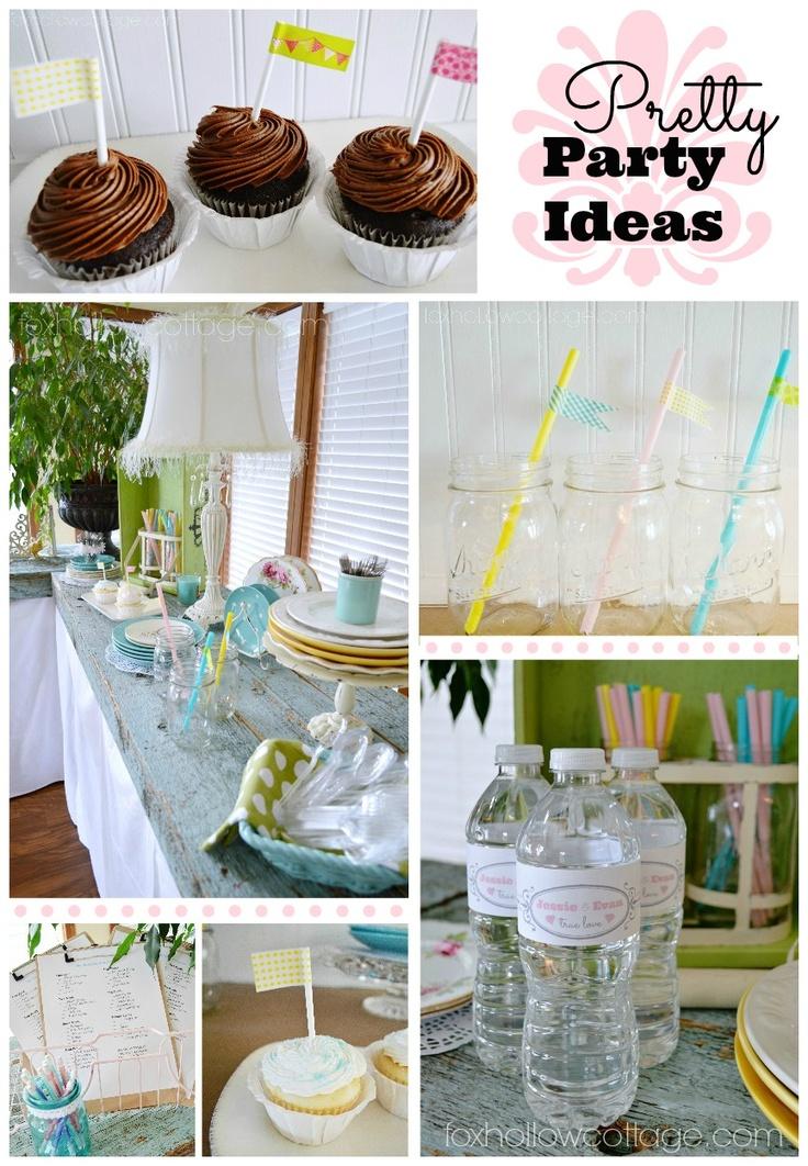 Vintage Mix Budget Bridal Shower Party Decor & Ideas | #bridalshower #party #ideas