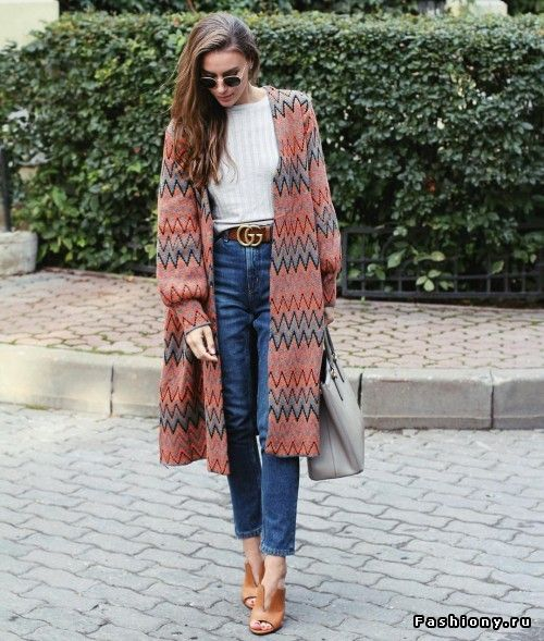 Пальто в осеннем модном образе