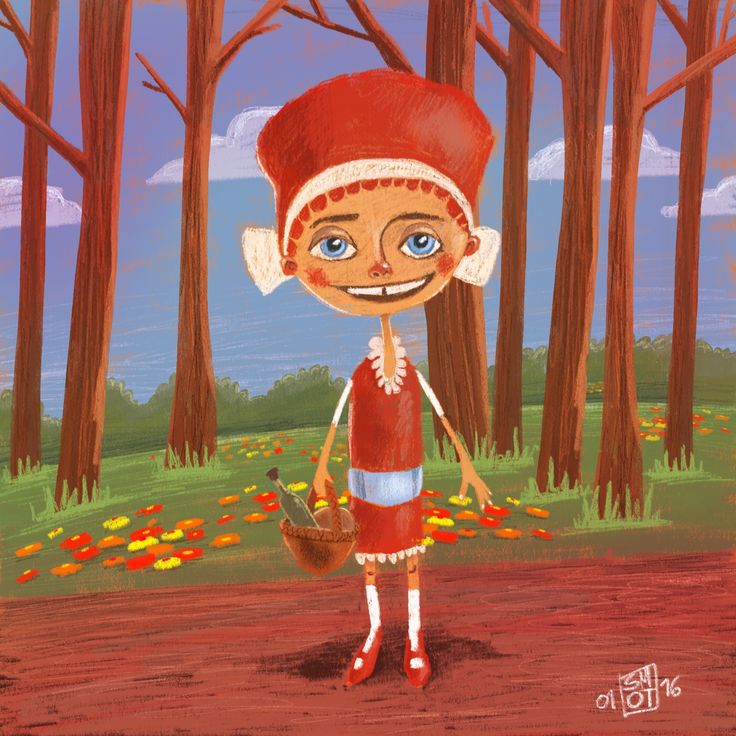 Red Riding Hood - illustration for my son Ted